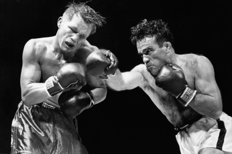 Marcel Cerdan Fights Tony Zale